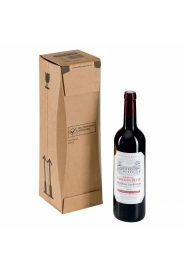 Caja cartón envio 1 botella 75 cl