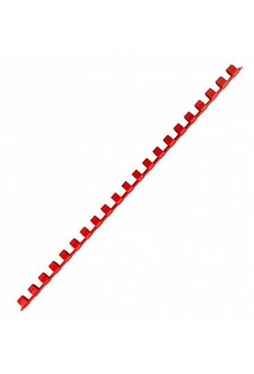 Canutillos plastico 10 mm rojos caja 100