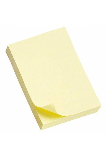 Bloc notas Post-It liso 76x51amarillo 12 unds