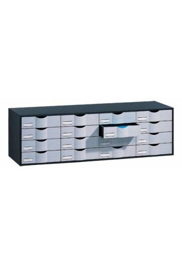 Organizador  clasificador negro 16 cajones gris
