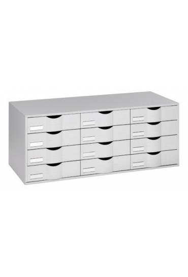 Organizador clasificador gris 12 cajones gris