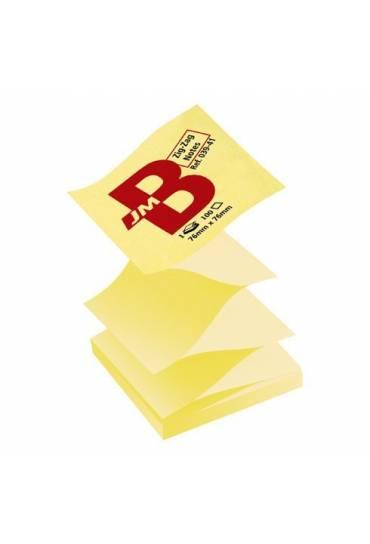 Bloc notas zig-zag JMB 100h amarillo