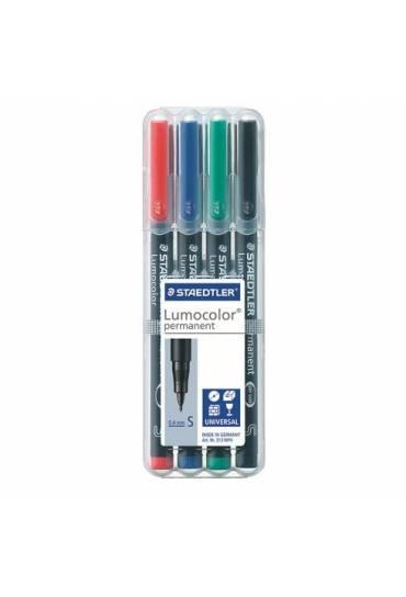 Estuche 4 rotuladores lumocolor S surtidos
