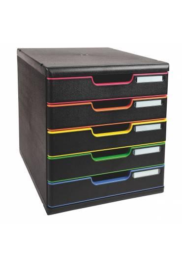 Modulo Organizador 5 cajones multicolor