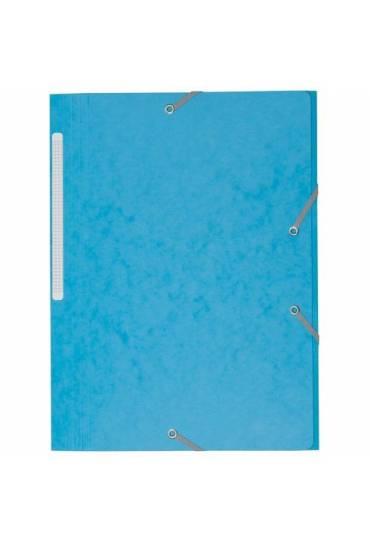 Carpeta carton gomas 3 solapas 450 gms JMB azul cl