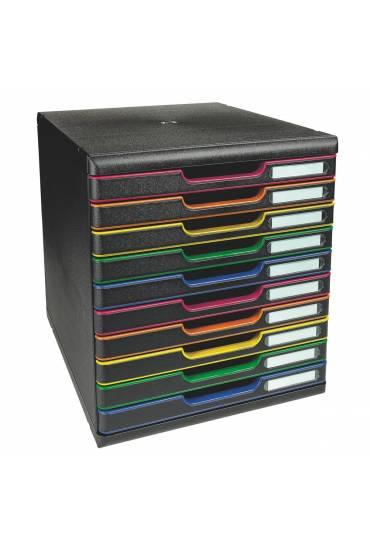 Modulo Organizador 10 Cajones Multicolor