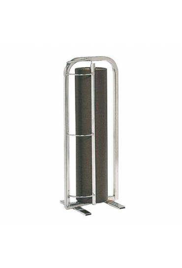 Portabobinas vertical acero cromado