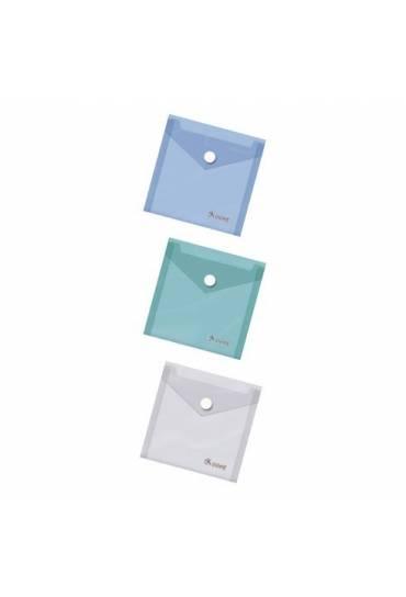 Sobre plastico PP cierre broche folio transparente
