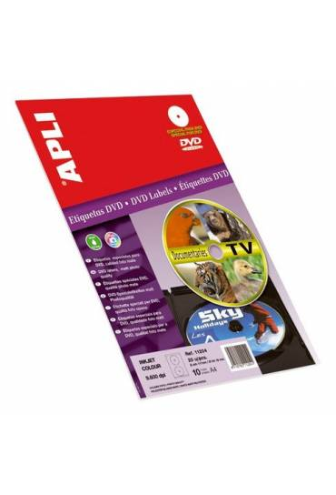 Etiquetas especiales DVD inkjet Apli