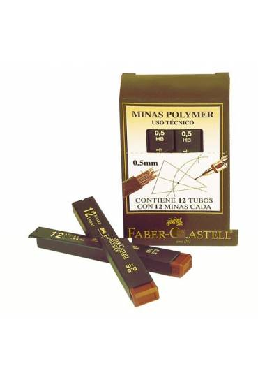 Tubo 12 minas Faber Castell Superpolymer 0,9 HB