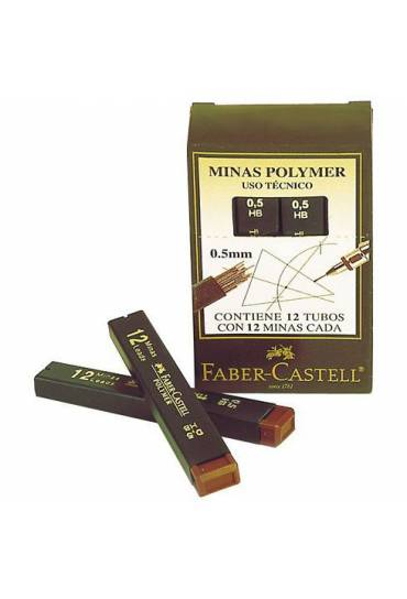 Tubo 12 minas Faber Castell Superpolymer 0,7 HB