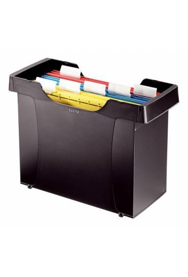 Caja archivadora carpetas colgantes leitz negro