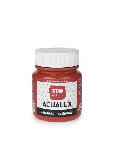 Titan Acualux 100 ml satinado Rojo ingles