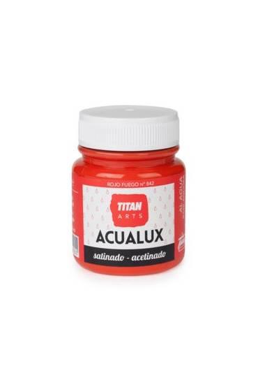 Titan Acualux 100 ml satinado Rojo fuego nº842