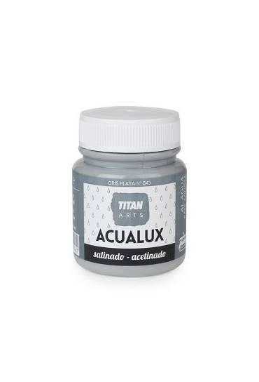 Titan Acualux 100 ml satinado Gris plata nº843