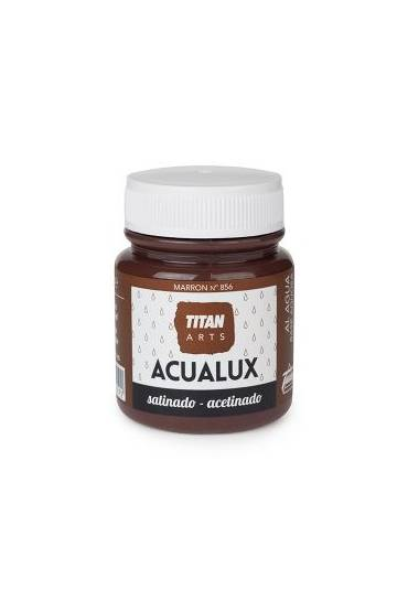 Titan Acualux 100 ml satinado Marron