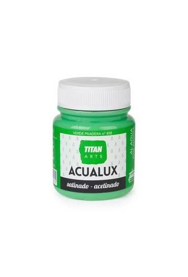 Titan Acualux 100 ml satinado Verde pradera nº858
