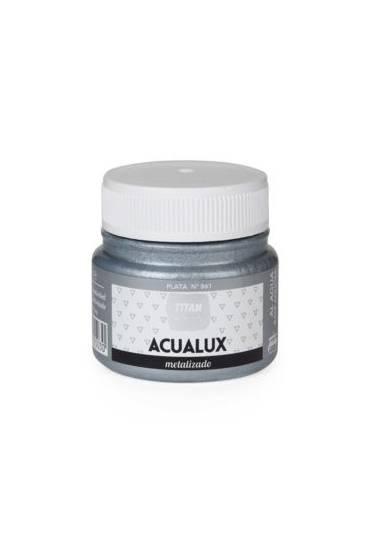 Titan Acualux 50 ml satinado Plata