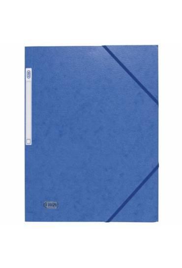Carpeta carton A4 gomas 3 solapas azul Elba