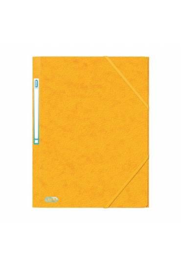 Carpeta carton A4 gomas 3 solapas amarillo Elba