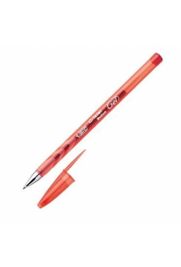 Boligrafo roller Bic cristal gel rojo