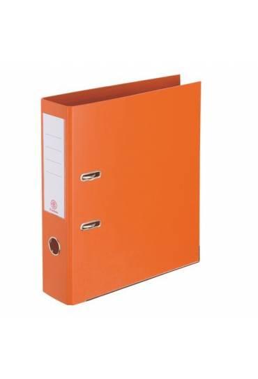 Archivador folio 55 mm forrado PP naranja