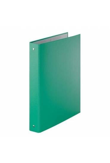 Carpetas 4 Anillas carton Forrado 30 mm verde