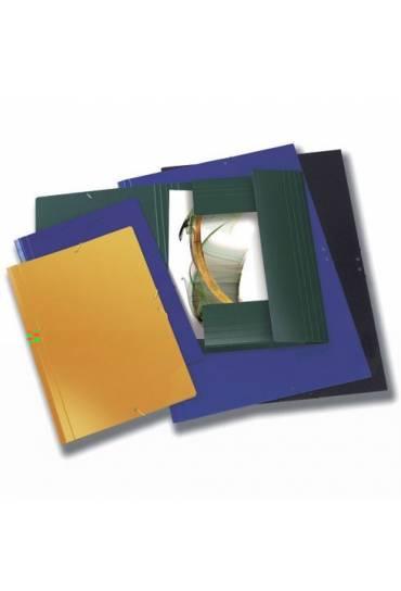 Carpeta A3 solapa carton gomas amarillo
