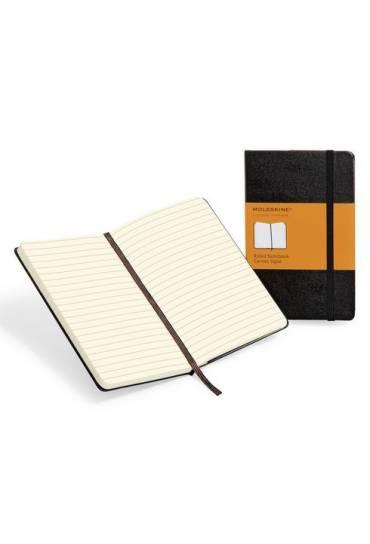 Cuaderno moleskine negro rayado 192 paginas