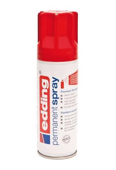 Spray edding rojo trafico brillo