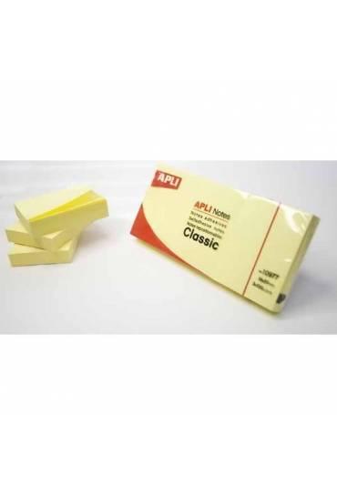 Pack 3 tacos notas adhesivas 38x51 Apli amarillas