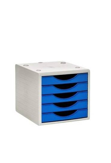Modulo organizador  5 cajones Archivotec azul