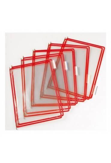 Fundas A4 rojas tarifold pack 10