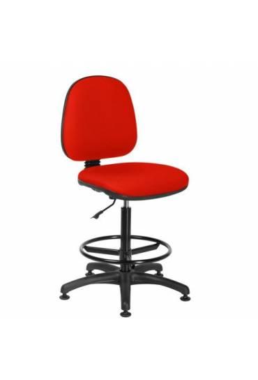 Silla  taller con tacos office estandar rojo