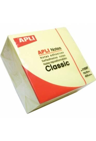 Cubo notas 75x75 400h amarillas APLI