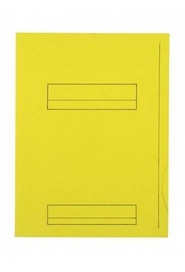 Subcarpeta 2 solapas A4 Fast  220g  amarillo 50 un