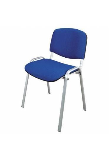 Silla conferencia azul patas aluminio