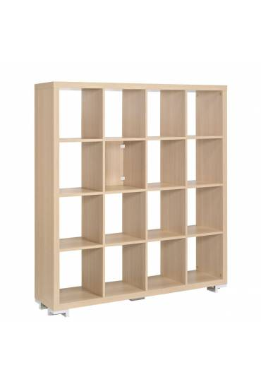 Biblioteca Shiny 16 casillas 146x130x33 roble