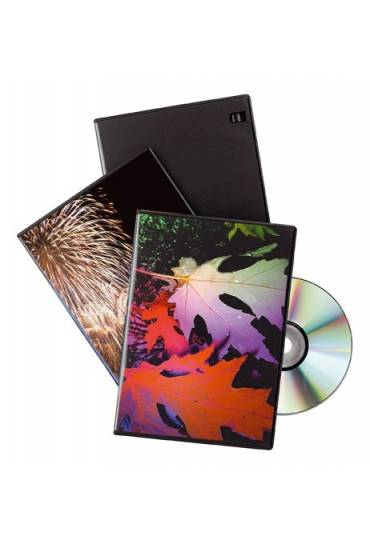 Caja dvd slim negro