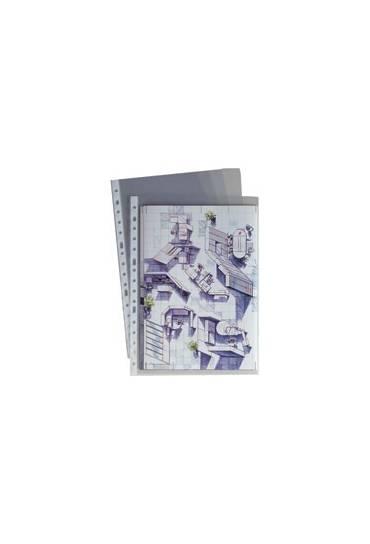 Fundas  80 mc A4 polipropileno rugoso caja 100