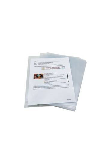 Dossier uñero PP Folio 120mc transparente 25 unds