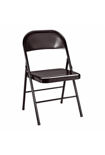 Silla plegable metal 2 negro