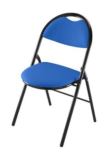 Silla plegable super confort 2 azul  patas negras
