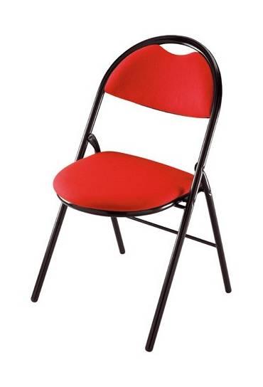 Silla plegable super confort 2 rojo patas negras