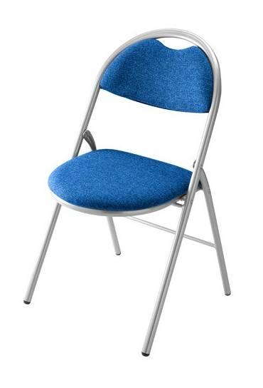 Silla plegable super confort 2 azul patas aluminio