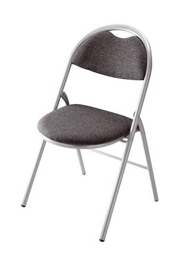 Silla plegable super confort 2 antracita P. Alumin