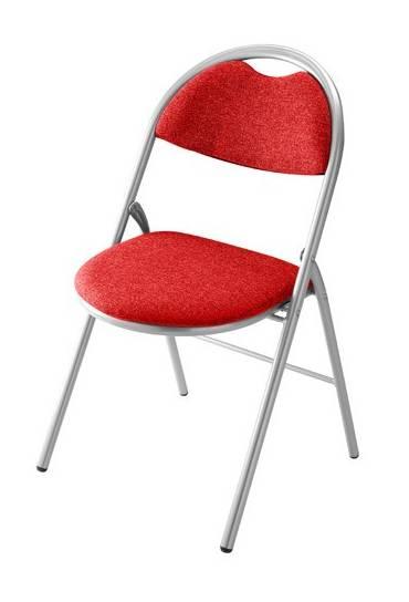 Silla plegable super confort 2  rojo P. Aluminio