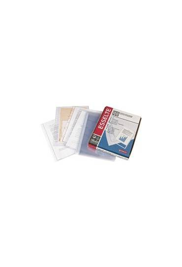 Fundas multitaladro PP folio 85mc Esselte Caja 100