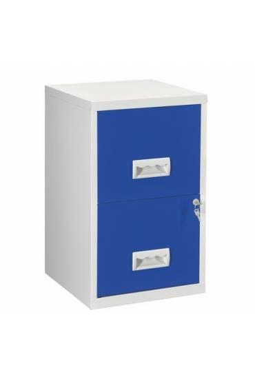 Archivador metalico Budget  2 cajones gris/azul