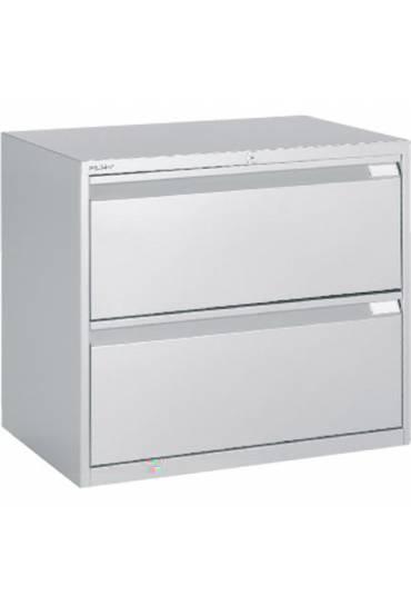 Archivador metalico 80 cm 2 cajones aluminio